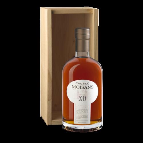 Moisans cognac xo wooden case