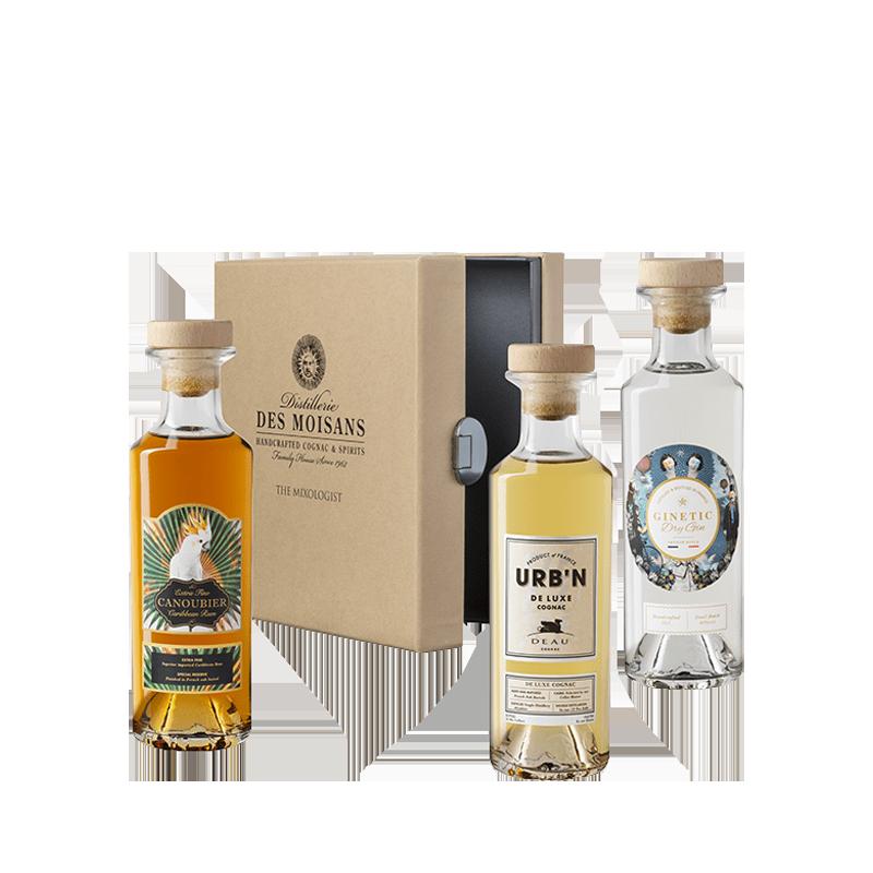 Rhum CANOUBIER, Gin GINETIC, Cognac URB'N 3X20cl